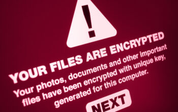 Ransomware - Close up of Your Files Are Encrypted on the Screen